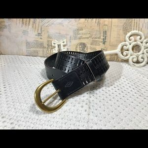 Fossil Claire Perforated Leather Belt